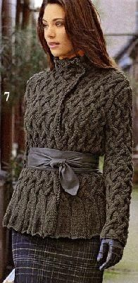 Вязание спицами теплых свитеров и описание их