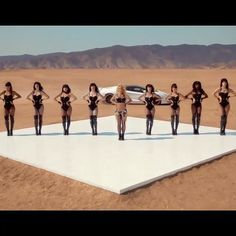 "And now she's in the desert with more backup dancers in black leather leotards. Who knows what's going on with her hot pants here, specifically — the point is that whatever it is, it's amazing. | Every Fashion Moment In The 11 Second-Long Instagram Teaser For Britney Spears's ""Work Bitch"" Music Video"