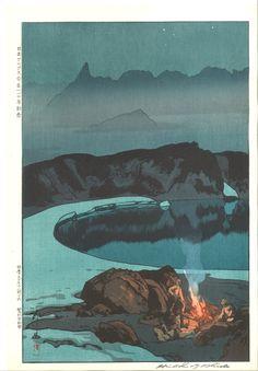 Yoshida Hiroshi - Camping at Washibadake