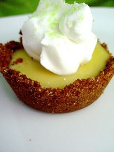 Ingredients:    Graham Cracker Crusts:  1 ½ cup graham cracker crumbs  1/3  cup sugar  6 tablespoons melted butter    Key Lime Filling:  1 can sweetened condensed milk  3 eggs yolks  ½ cup Nellie and Joe's Lime Juice    Direct