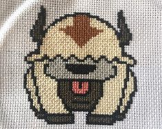 Appa Cross Stitch Pattern (Avatar: The Last Airbender/The Legend Of Korra) Cross Stitch Beginner, Cross Stitch Art, Cross Stitch Designs, Cross Stitching, Cross Stitch Embroidery, Embroidery Patterns, Cross Stitch Patterns, Geek Perler, Nerd Crafts