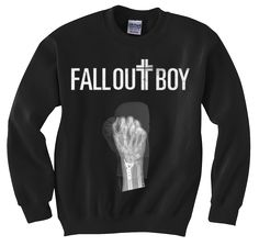 Fall Out Boy Centuries X-Ray print on 50/50 unisex crewneck sweatshirt. Orders will begin shipping 10/24  Size S