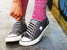 turn your lace-up converse into slip-ons!