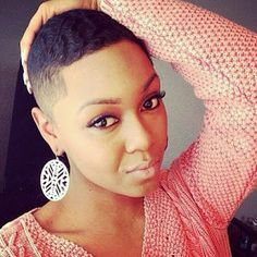 TWA Tappered Cut Hairstyles