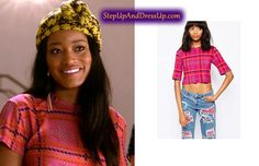 Zayday Williams in Scream Queens Season 1 Finale Chanel Scream Queens, Scream Queens Season 1, Scream Queens Fashion, Queen Fashion, Seasons, Crop Tops, Polyvore, Stuff To Buy, Outfits