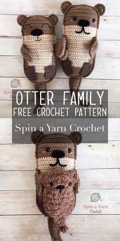 Otter Family Free Crochet Pattern - Spin a Yarn Crochet