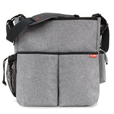 Skip Hop Duo Deluxe Diaper Bag, Heather Grey (Discontinued by Manufacturer)