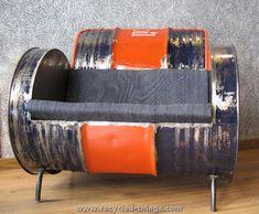 Metal Barrel Sofa