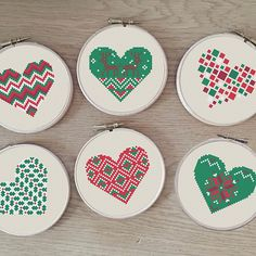 Modern cross stitch patterns by Happinesst on Etsy