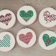Modern cross stitch patterns by Happinesst on Etsy