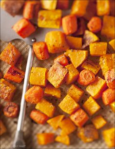 Maple-Roasted Butternut Squash and Carrots by pictureperfectmeals #Butternut_Squash #Carrots #Maple #Healthy