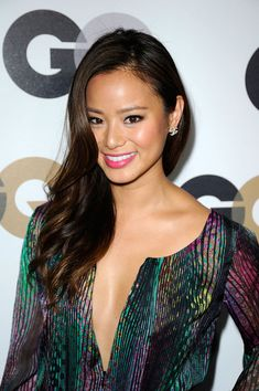 Jamie Chung at GQ party. Jamie Chung, Engagement Photo Hair, Bridesmaid Hair Updo, Hot Pink Lips, Best Wedding Makeup, Celebs, Celebrities, Party Makeup, Hair Videos