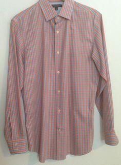 Banana Republic Non-Iron Slim Fit Long Sleeve Shirt Medium #BananaRepublic #ButtonFront