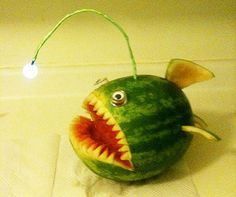 watermelon carving - fish