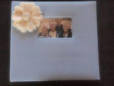 Scrapbook Album Blue Ivory jasmine flower choose custom colors by ArtisanFeltStudio on Etsy, $33.00