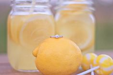 Nothing tart about this engagement ring photo! Photograph by Captured by Belinda http://www.storyboardwedding.com/my-favorite-shoot-to-date-throw-back-lazy-summer-days-lemonade-stand-crush-worthy-engagement-photos/