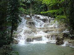 Dunn's River Falls, Jamaica. A must if you go there!!!