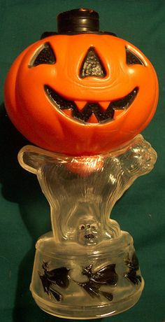 antique german Halloween candy container - sculpt was later made into a large blow mold light.