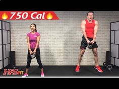 45 Min HIIT Kettlebell Workouts for Fat Loss amp; Strength - Kettlebell Workout Training Exercises - YouTube