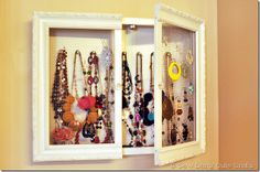 Jewelry Cabinet. I {adore} this and must have one.