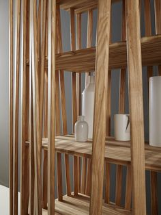 Wooden highboard with doors MIKADO by Porro design FRONT