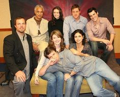 (From left to right, top to bottom) Adam Baldwin, Ron Glass, Summer Glau, Alan… Firefly Cast, Firefly Tv Series, Firefly Movie, Firefly Quotes, Joss Whedon, Ron Glass, Nathan Fillon, Jewel Staite, Adam Baldwin