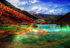 Natural Pools - Huanglong Scenic and Historic Interest Area - Sichuan, China