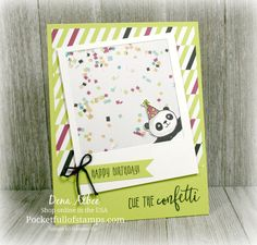 Stampin' Up! Party Panda - Today's Simple Sunday card pairs Picture Perfect Birthday with the adorable (photo-bombing) Party Panda.  Earn Party Panda FREE during Sale-A-Bration with a $50 order!