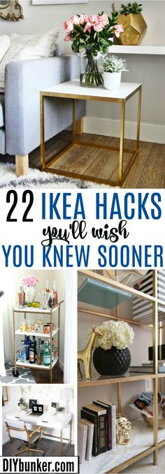 These 22 Ikea Hacks Are AMAZING! I love how much money I can save by DIYing my own furniture!