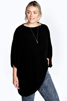 Plus Kayla Oversized Slouch Knit Jumper Curvy Dress, Online Shopping Clothes, Plus Size Women, Plus Size Outfits, Plus Size Fashion, Fashion Dresses, Clothes For Women, My Style, Boohoo