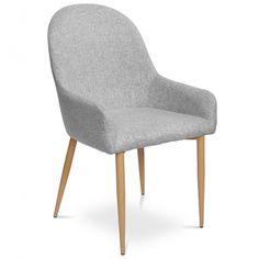 Tapicerowane krzesło MANUEL szare - Sklep meblownia.pl