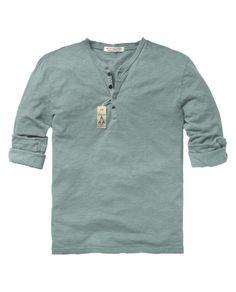 Scotch & Soda Dyed Long-sleeved granddad shirt