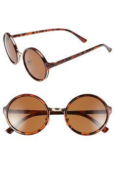 45cbac4345b 1920s style sunglasses  Womens Sole Society 51mm Round Sunglasses -  Tortoise  24.95 AT vintagedancer.