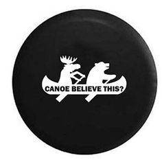 Moose Bear Canoe Believe This? Spare Tire Cover For Jeep