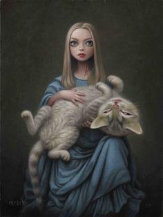 Mark Ryden - Pop Surrealism - Alice in Wonderland Mark Ryden, Art Sinistre, Arte Lowbrow, Arte Horror, Creepy Art, Lewis Carroll, Surreal Art, Art World, Cat Art