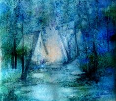 "Branka Božić, ""Story of the stolen dreams...""  Watercolor 25 x 22 cm  on ArtStack #branka-bozic #art"