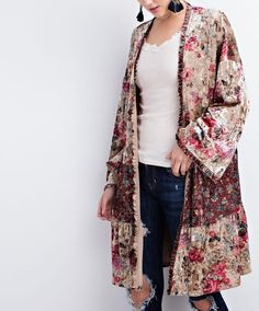 Mix-N-Match Velvet Kimono