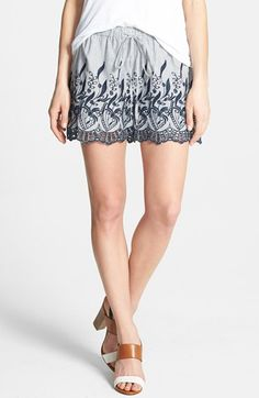 Love these and the length! Two by Vince Camuto Embroidered Stripe Drawstring Shorts