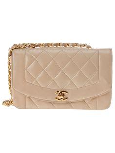 Chanel Vintage Quilted Beige Bag