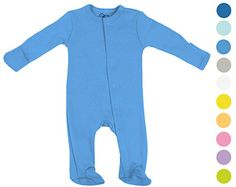 Boys Girls Baby Bodysuit Footie made with Organic Cotton  Sleep n Play Sleeper with Gloved Sleeve  Dark Blue NB -- Read more  at the image link.Note:It is affiliate link to Amazon.