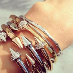 Spike Bracelets. Want. By Vita Fede
