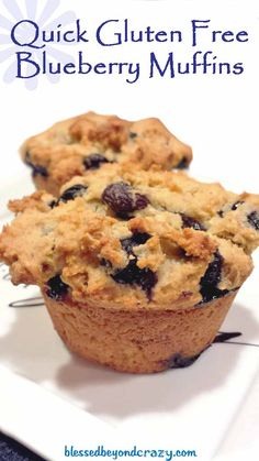 Quick Gluten Free Blueberry Muffins - this is my all-time  favorite quick and easy gf muffin recipe. Perfect recipe to make for your gluten free friends over the holidays.