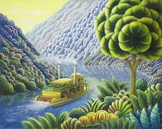 Lazy River by Andy Russell ~ riverboat