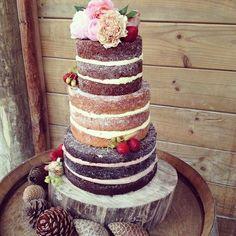 Rustic wedding cake at #sudburynz