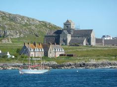 Iona Abbey, from the Sound of Iona.