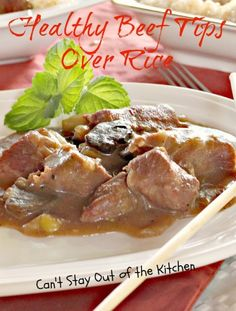 Healthy Beef Tips Over Rice - IMG_5946