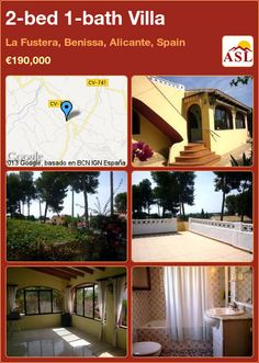 2-bed 1-bath Villa in La Fustera, Benissa, Alicante, Spain ►€190,000 #PropertyForSaleInSpain