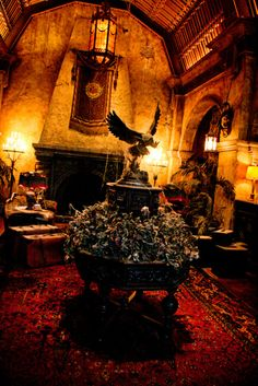 The Hollywood Tower Hotel. Home to the Twilight Zone Tower of Terror. What a great Halloween party theme.