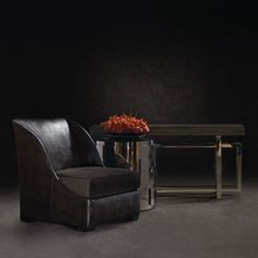Console Table Wood Top and Metal Base | Bernhardt