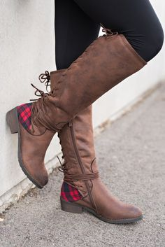 Boise Flannel Backing Boots (Brown) Botas Dama 0f96888278aae